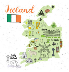 Ireland sketch doodles hand drawn irish elements vector