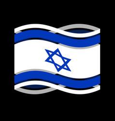 israel flag ribbon isolated israeli symbol vector image