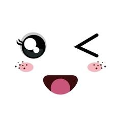 kawaii cartoon emoticon vector image
