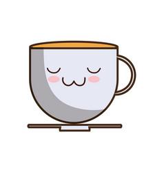 Kawaii coffee icon vector