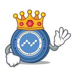 King nano coin mascot cartoon vector