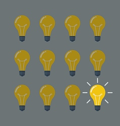 Light Bulbs Pattern Idea Concept vector