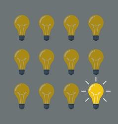 Light Bulbs Pattern Idea Concept vector image