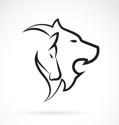 Lion and Horse vector