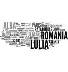 Lulia word cloud concept vector