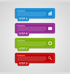 Modern colorful squares infographic options banner vector