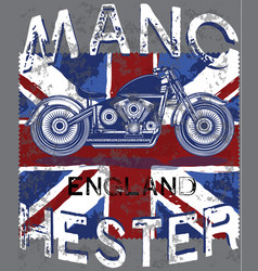 motor club manchester with england flag vector image