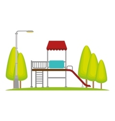 Neighborhood playground place icon vector