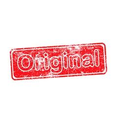 original red grunge rubber stamp vector image