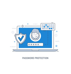 password protection vector image