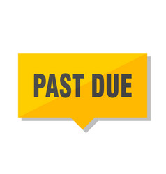 Past due price tag vector