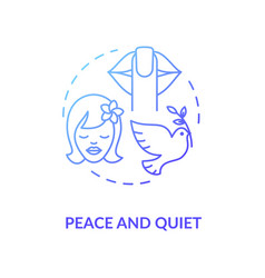 Peace and quiet blue concept icon vector