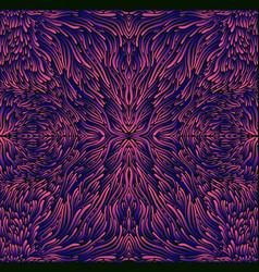 psychedelic trippy colorful fractal mandala pink vector image