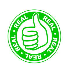 Real thumbs up stamp vector