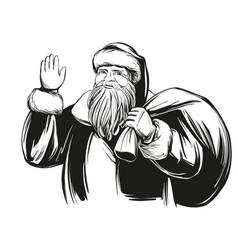 Santa claus christmas symbol hand drawn vector