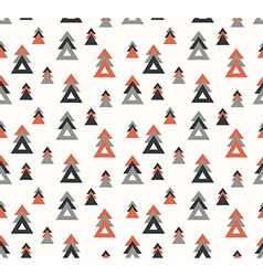Seamless pattern with stylish trees vector image