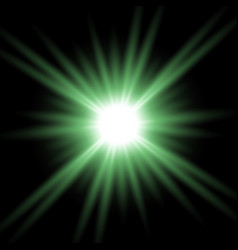 shining star on transparent background green color vector image