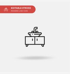 sink simple icon symbol vector image