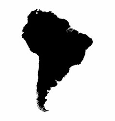 south america silhouette map vector image