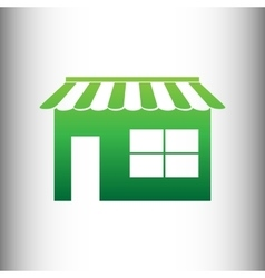 Store sign Green gradient icon vector image