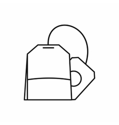 Teabag icon outline style vector image
