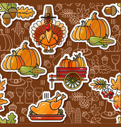 Thanksgiving holiday texture seamless pattern vector