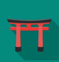 torii icon in flat style isolated on white vector image