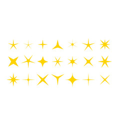 twinkle stars icons stars with sparkle vector image
