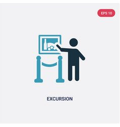 Two color excursion icon from museum concept vector