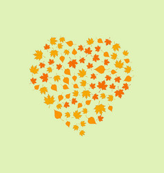 valentine from autumn leaves vector image