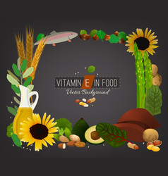 Vitamin e image vector