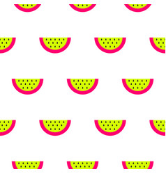 Watermelon bright neon seamless pattern vector