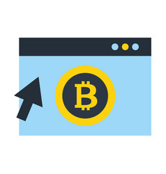 website bitcoin cryptocurrency clicking vector image