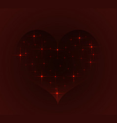 window into space in the form of heart vector image