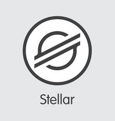 Xlm - stellar the logo crypto coins or market vector