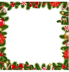 xmas frame vector image