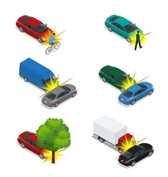 Car crash emergency disaster auto accident vector