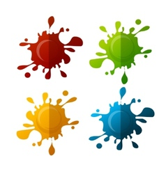 colorful blot set vector image