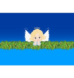 greeting card with an angel vector image vector image