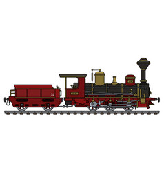 historical steam locomotive vector image vector image