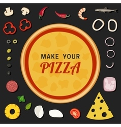 Make your pizza vector image