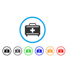 medical briefcase rounded icon vector image vector image