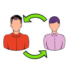 staff turnover concept icon cartoon vector image vector image