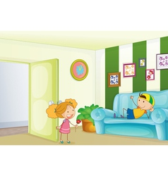 Young kids vector image vector image
