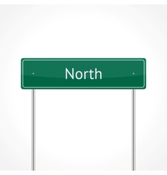 Green north traffic sign vector image vector image