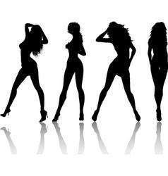 sexy females vector image vector image