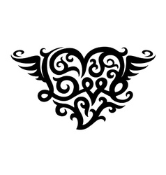 tattoo with love heart symbol vector image