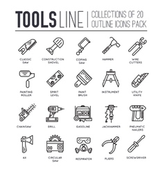 Collection of working tools icons items design vector image