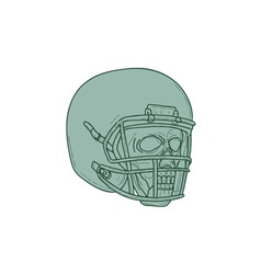 Football Quarterback Skull Drawing vector image vector image