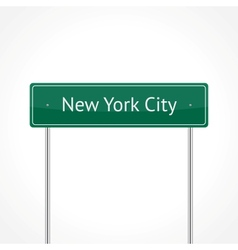 Green NYC traffic sign vector image vector image